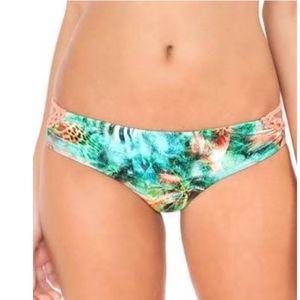 NWT Luli Fama multicolor bikini bottom size L